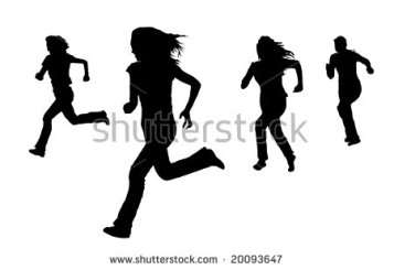 stock-photo-silhouette-of-women-running-on-white-20093647